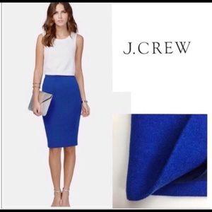 J.Crew royal blue pencil skirt